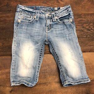 Miss Me Girls 12 Light/Medium Wash Jean Shorts